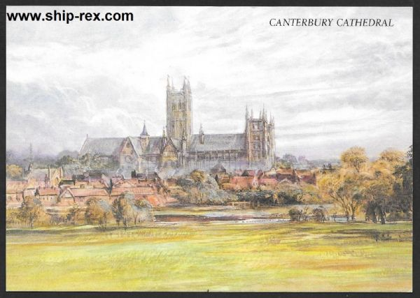Canterbury Cathedral (Kent) postcard (a)
